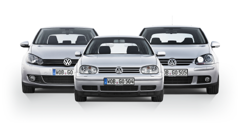 Gruppe Älterer Fahrzeuge